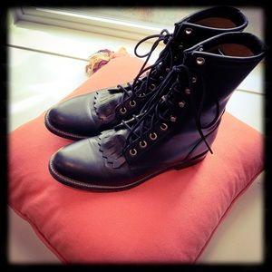 Beautiful Justin Roper Kiltie Lace-up Boots